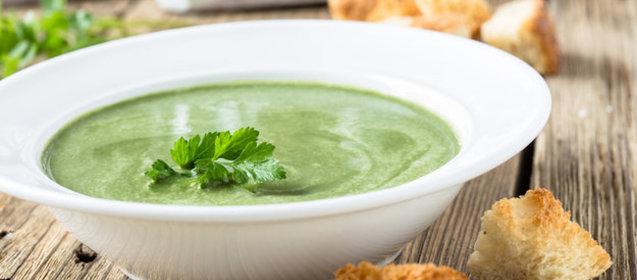 Суп-пюре с шпинатом рецепт