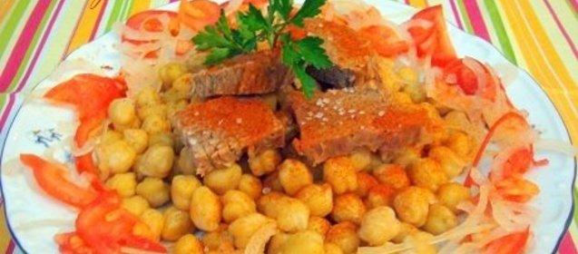 Мясо с нутом рецепт с пошагово