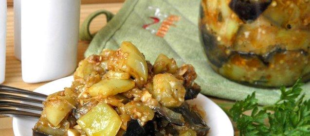 Рагу из баклажанов рецепт пошаговый с фото