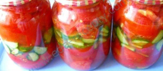 Простой салат на зиму из помидоров