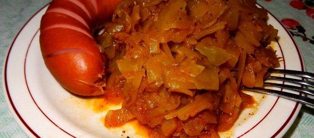 Тушёная капуста с фаршем в мультиварке рецепт пошагово