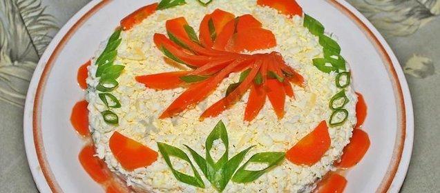 Салат консервы скумбрия рецепт фото
