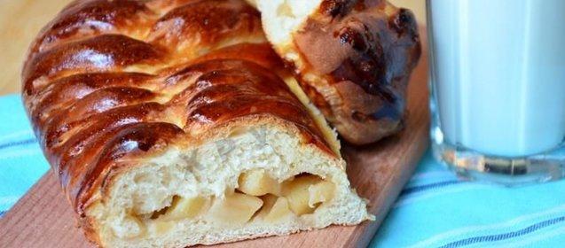 Косичка пирог с яблоками рецепт с