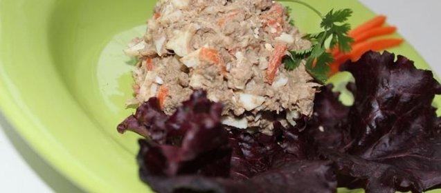 Рецепт салата из печени свиной с