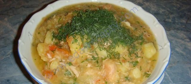 Суп гуляш из свинины с подливкой рецепт