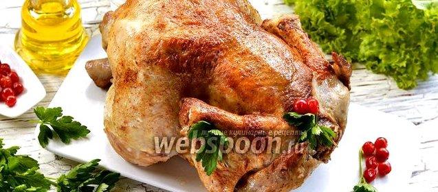 Целая курица пошаговый фото рецепт