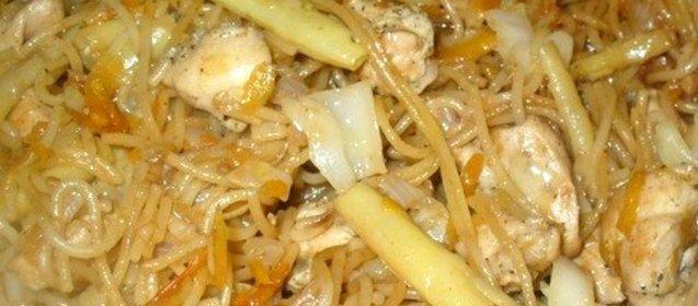 Лапша по-китайски рецепт в домашних условиях