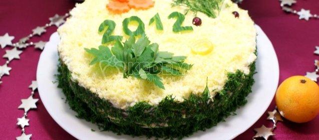 Новогодние салаты 2012 рецепт с фото