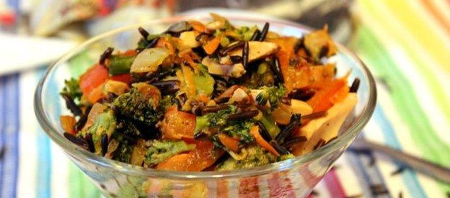 Салат из дикого риса просто с фото