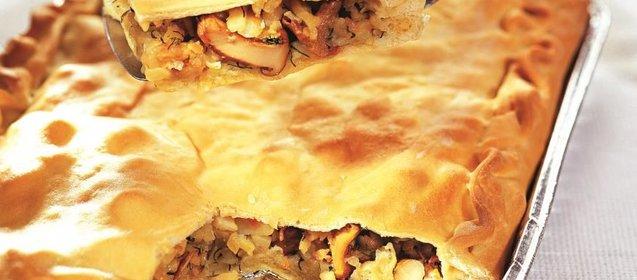Пирог с лисичками в духовке пошаговый рецепт с фото