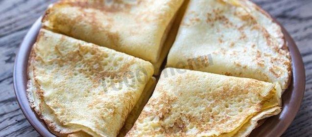 Рецепт блинов на скисшем молоке пошагово