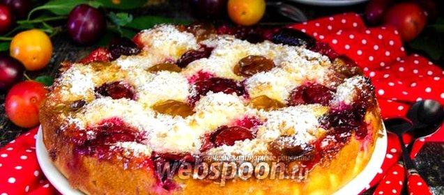 Пирог из алычи рецепт с