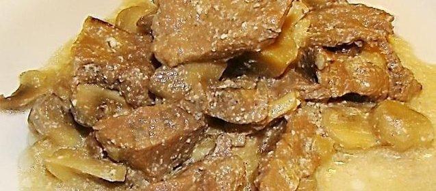 бефстроганов со сметаной рецепт фото
