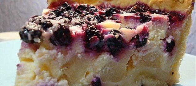 Пирог с творогом и ягодами рецепт пошагово