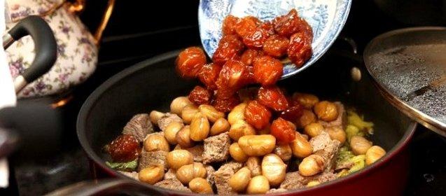 Мясо с каштанами рецепт пошагово