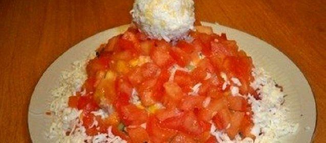 Салат красная шапочка рецепт пошагово с курицей и перцем