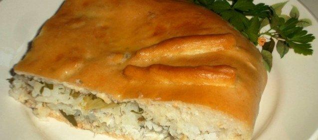 Пирог со свежей рыбой рецепт с