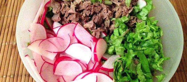 Салат с говядиной рецепт простой с