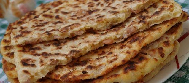 Лепешки с ветчиной и сыром рецепт пошагово с