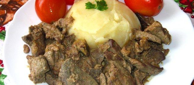 Печень свиная рецепты приготовления со сметаной пошаговый рецепт с