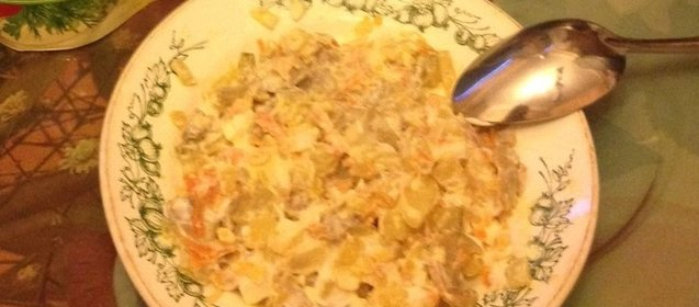 Салат обжорка пошагово с
