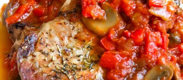 Мясо в духовки под соусом