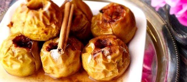 Яблоки с корицей в духовке рецепт с пошагово