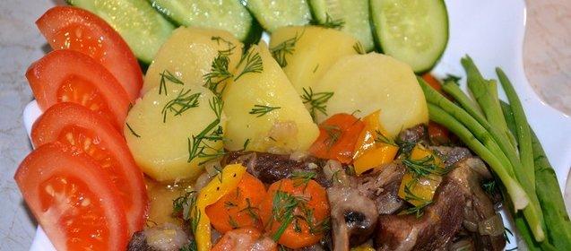 Говядина с шампиньонами рецепты простые и вкусные