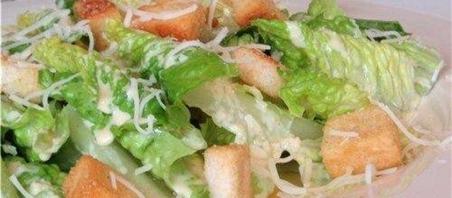 Салат цезарь традиционный рецепт с фото