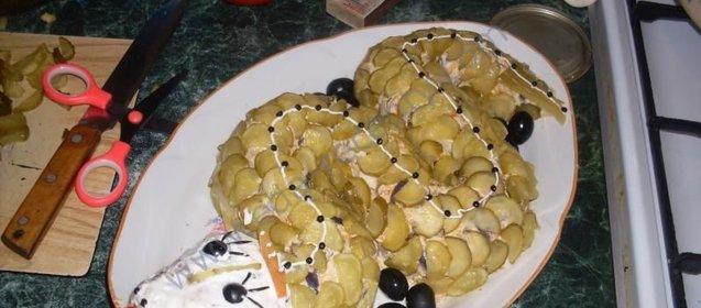 Салат для гостей рецепт с