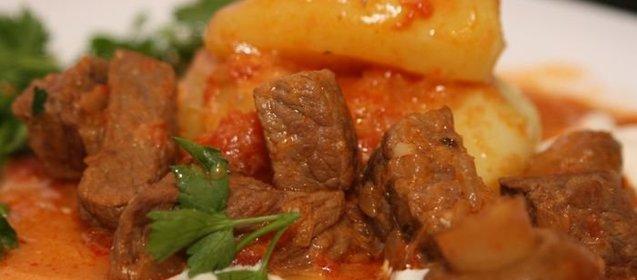 Гуляш из говядины в кастрюле рецепт пошагово в