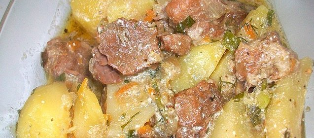 Рецепт свиного легкого в сметане