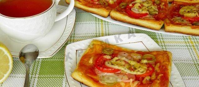 Рецепты пиццы из слоеного дрожжевого теста с пошагово