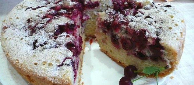 Пироги с вишней рецепт в мультиварке