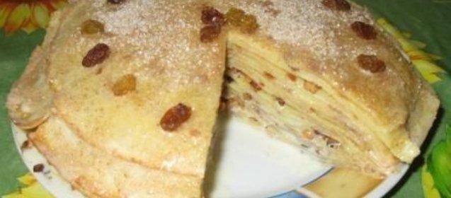 Торт из блинов рецепт с фото пошагово в домашних условиях
