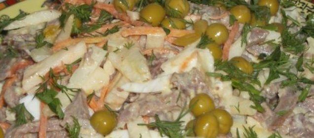Язык говяжий салат рецепт приготовления