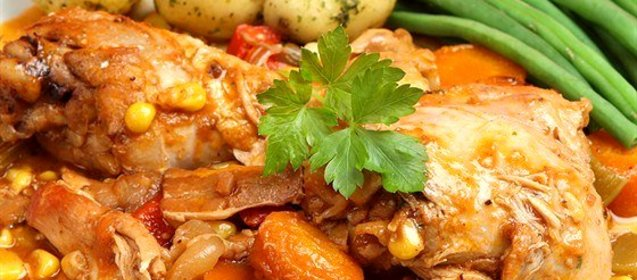 окорочка с овощами рецепт с фото