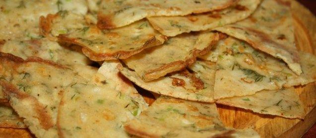 Блинчики с сыром и зеленью рецепт пошагово