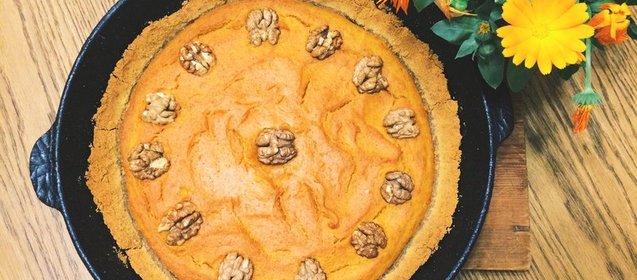 Простой тыквенный пирог рецепт с фото пошагово