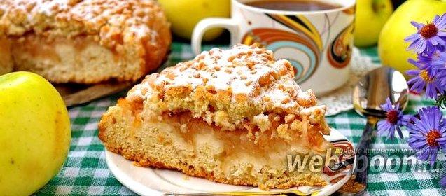 Рецепт тёртого пирога с яблоками