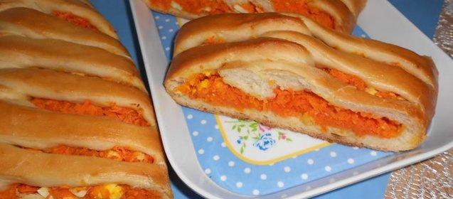 Морковный пирог рецепт пошаговый с фото