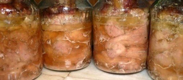 Как сделать тушенку из свиных голов