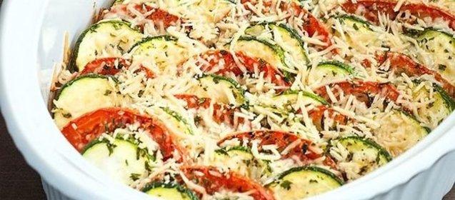Кабачки с помидорами запеченные в духовке рецепт с пошагово