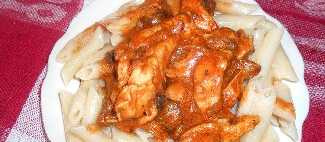 Бефстроганов из куриной грудки рецепт с фото пошагово