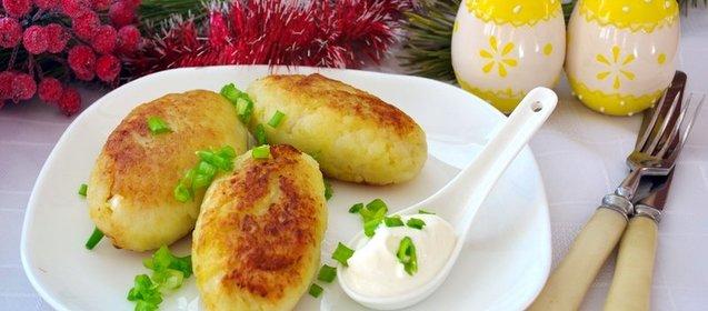 Картофельные зразы с сосиской рецепт с фото