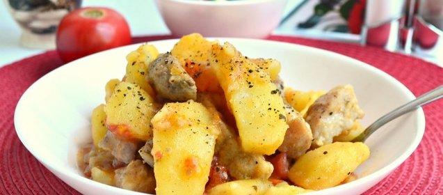 Рецепты мультиварки картошка с свининой