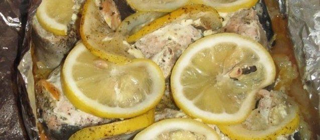 Горбуша в духовке с лимоном рецепт с пошагово в духовке