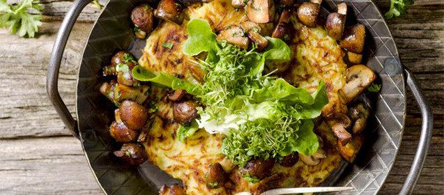 Рецепт жареной картошки с белыми грибами с фото пошагово