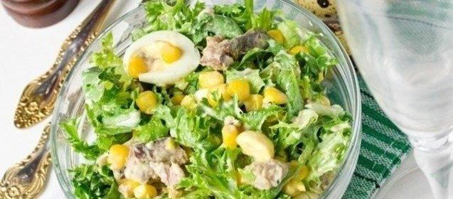 Салат с сардиной в масле с