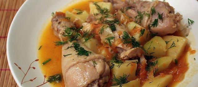 Курица капуста картошка рецепт с пошагово